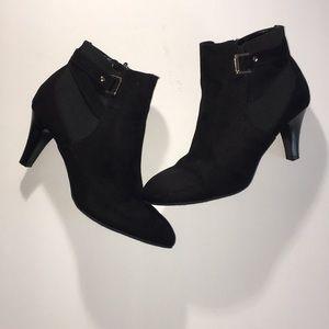 Dextflex Comfort Fashion suede black ankle boots